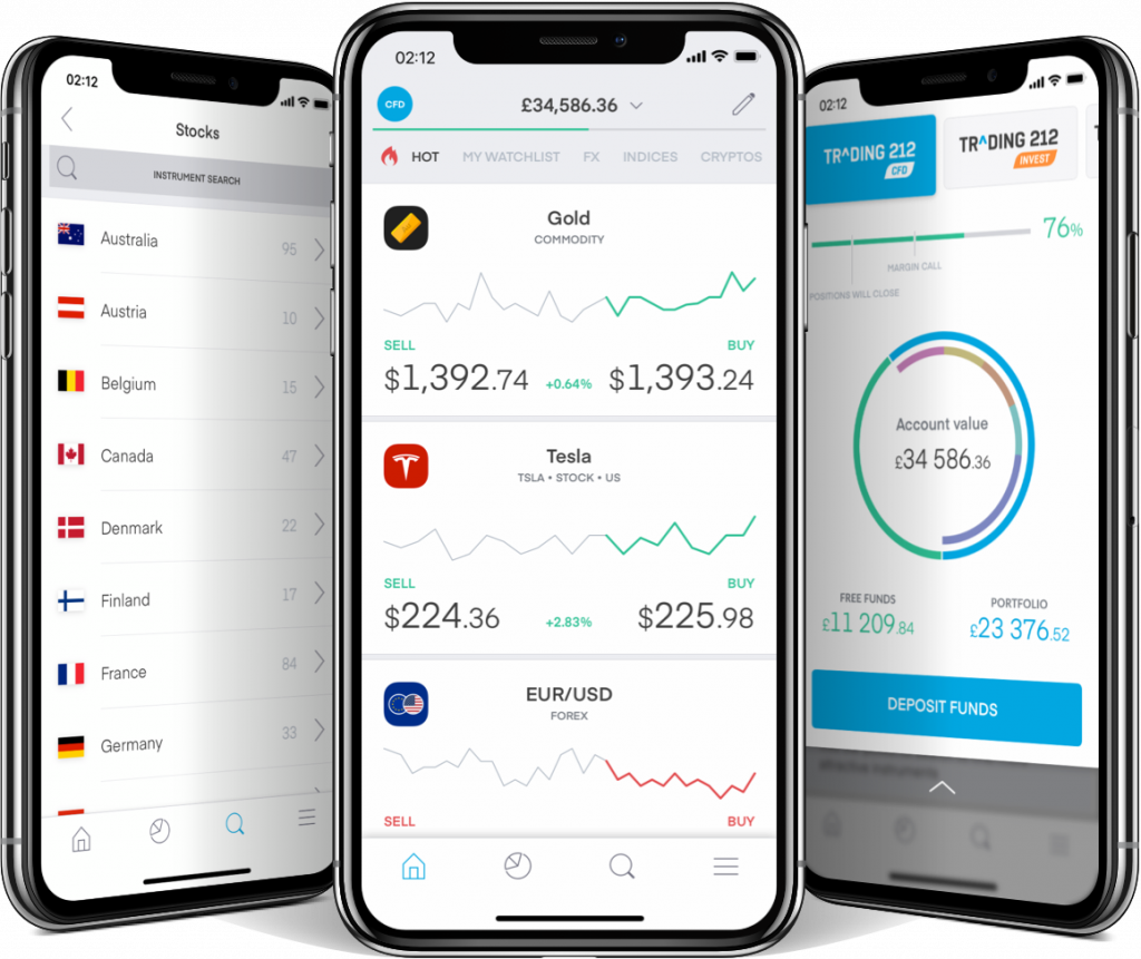 Trading 212 is a stock trading app